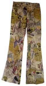 Moschino Boot Cut Pants Multi Color