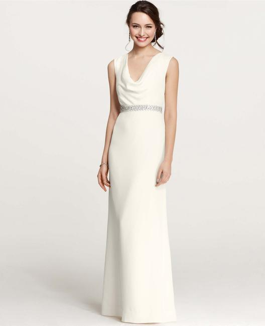 Item - Ivory Mya Cowl Neck Gown Feminine Wedding Dress Size 00 (XXS)