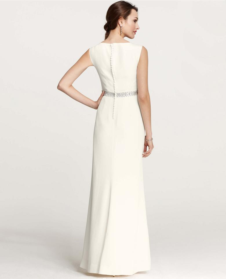 Ann Taylor Ivory Mya Cowl Neck Gown Feminine Wedding Dress Size 00 ...