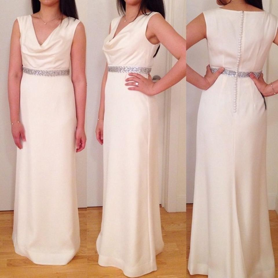 Cowl Neck Wedding Gown: Ann Taylor Mya Cowl Neck Wedding Gown Wedding Dress On Tradesy