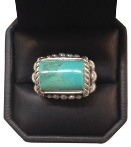 Barse Barse Studio Cable Style Sterling Silver and Turquoise Ring. Size 7