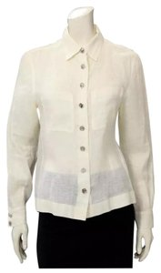 Chanel Button Down Shirt Ivory