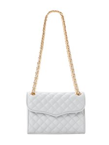 Rebecca Minkoff Affair Quilted Crossbody Gold Chain Leather Shoulder Bag