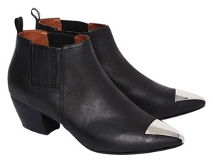 Jeffrey Campbell Jude Leather Bootie black and silver Boots