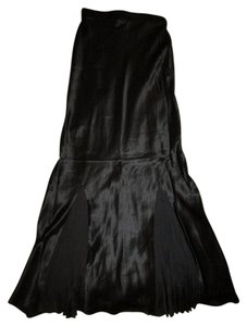 H&M Skirt Black Silk