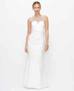 Ann Taylor Jeweled Halter Mermaid Ruched Wedding Dress