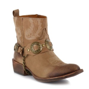 Coconuts by Matisse Harness Western Conchos Cowboy Tan Boots