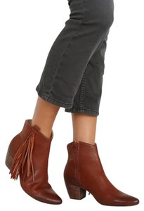 Matisse Leather Fringe Bootie Rust Boots