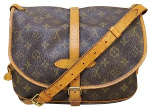 Louis Vuitton Lv Saumur 30 Canvas Cross Body Bag
