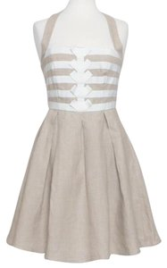 Jessica Simpson short dress Tan & White on Tradesy