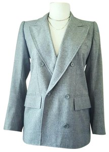 Saint Laurent Coat Ysl Grey Blazer