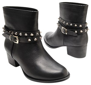 Matisse Studded Strap Rocker Stud Black and gold Boots