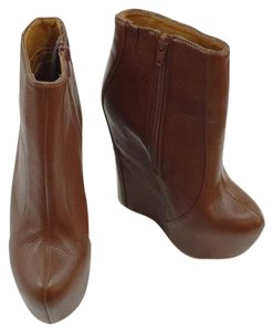 Jeffrey Campbell Wedge Platform Super High Stitching brown Boots
