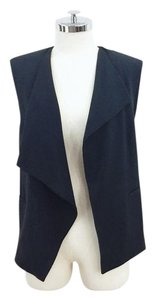 Zara Cut Out Draped Open Front Vest