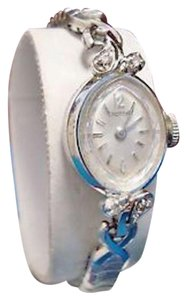 Croton Croton 17 Jewel Watch 14K White Gold Case with 6 Diamond Accents