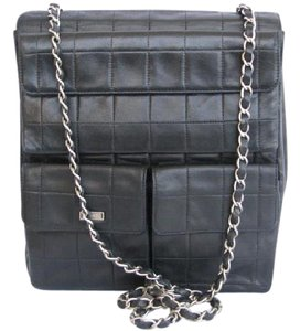 Chanel Leather Silver Harware Vintage Cross Body Bag