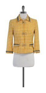 W118 by Walter Baker Yellow Cream Tweed Jacket