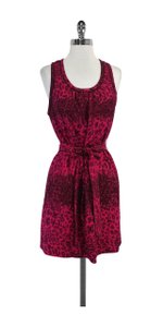 Marc by Marc Jacobs short dress Fuchsia Animal Print Silk on Tradesy