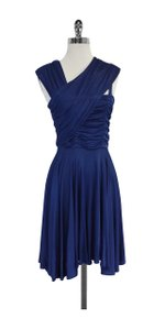 Tracy Reese Blue Sleeveless Flared Dress