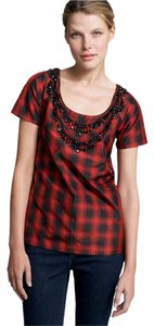 J.Crew Top Red & Black
