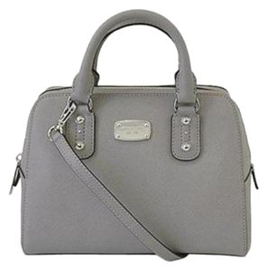 Michael Kors Mk Handbag Mk Saffiano Handbag Mk Grey Mk Leather Satchel in Pearl Grey