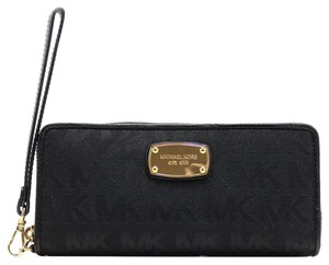 Michael Kors New MICHAEL KORS PVC Jet Set Travel Continental Zip Wristlet/Wallet