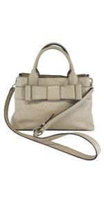 Kate Spade Taupe Ostrich Leather Convertible Shoulder Bag