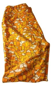 LuLaRoe Orange yellow candy corn Halloween Holiday Leggings