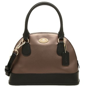Coach Mini Cora Dome Satchel in Black/Bronze