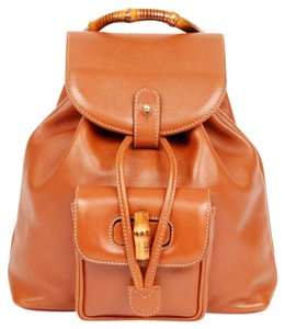 Gucci Bamboo Leather Backpack