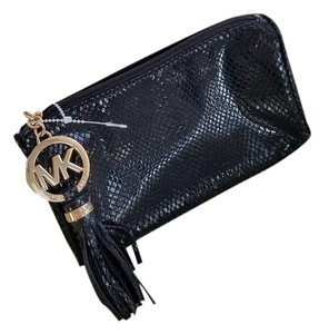 Michael Kors FINAL SALE! NEW!! Michael Kors black python Cosmetic/Travel Pouch
