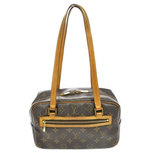 Louis Vuitton Cite Mm Satchels Monogram Leather Shoulder Bag
