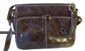 Giani Bernini Leather Organizer Pockets Cross Body Bag