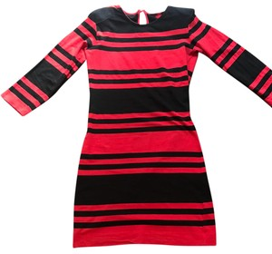 French Connection short dress Black/ red on Tradesy