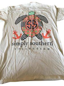 Simply southern T Shirt White multicolor turtle