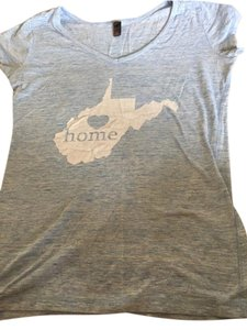 T Shirt Light heathered blue with white