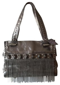 Sharif Satchel in Leather Pewter
