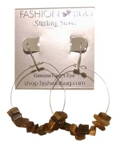 Fashion Bug Sterling silver genuine Tiger's Eye