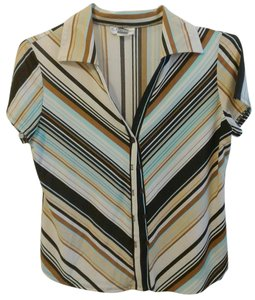 EK Designs Stripes Neutral Colors Medium Top Brown/Blue/Black/Tan/White