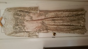 Terani Couture Beige Mermaid Style Dress Dress