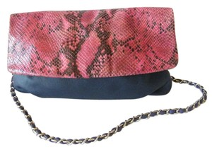Elie Tahari Snake Embossed Leather Shoulder Bag