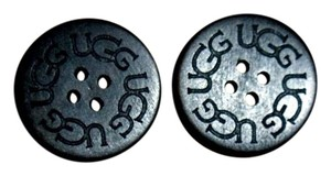 UGG Australia TWO (2) BLACK UGG Replacement Buttons (30mm) Boots