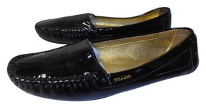 Prada Designer Loafer Patent Leather black Flats