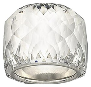 Swarovski NWT Swarovski Crystal Nirvana Clear and Silver Cocktail Ring, Size 52 (6) Gift Present Ladies'