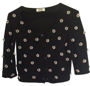 Moschino Black With Pearl and Gold Beading Jacket