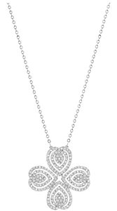 Swarovski New SWAROVSKI CAROL CRYSTAL PENDANT Silver LEAF NECKLACE Convertible
