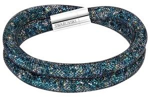 Swarovski New SWAROVSKI Green Crystal Stardust Bracelet Silver Clasp 40mm Medium