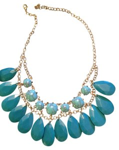 Express Express Gold & Turquoise Fashion Necklace