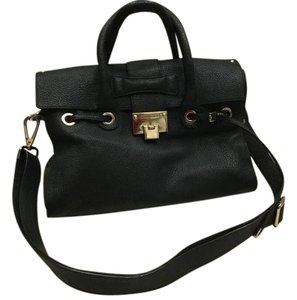 Jimmy Choo Leather Satchel in Black