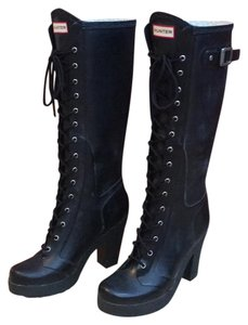 Hunter Black/Navy Blue Boots